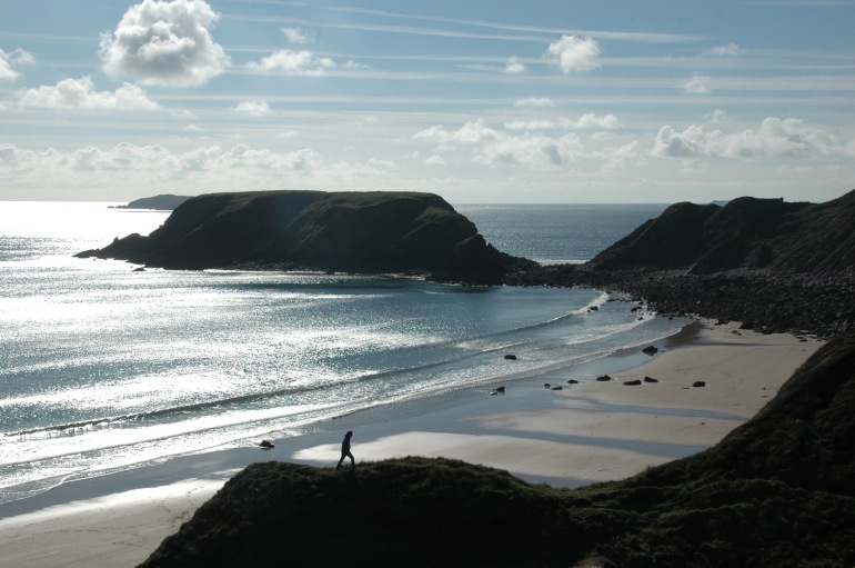 marloes sands and trails in sky