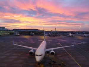 sunrise on setting off